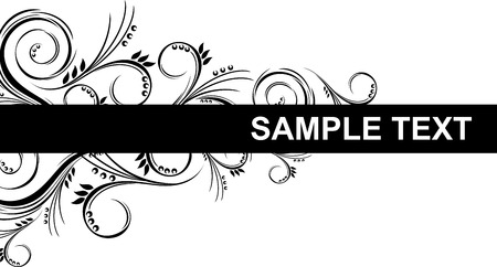 border with floral ornaments Stock Vector - 8721099