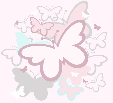 design of butterflies silhouettes in vector format very easy to edit, individual objects Illustration