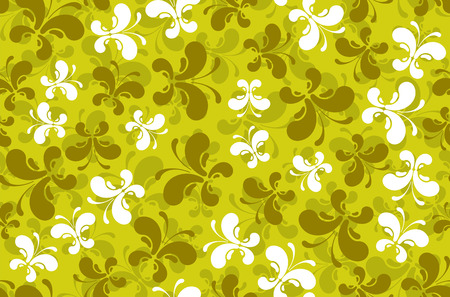 springtime: abstract butterflies silhouettes seamless pattern on green background