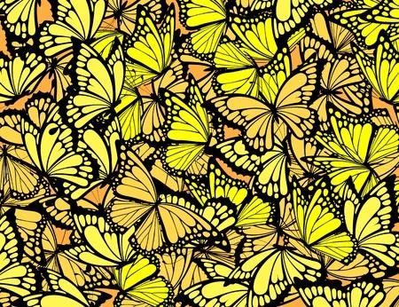 Naadloze: veel vlinders achtergrond, individuele objecten in vector-formaat Stock Illustratie