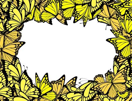 나비 테두리, 벡터 형식으로 개별 개체
