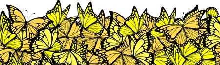 multitude: frontera de mariposas, individuo objetos en formato vectorial Vectores
