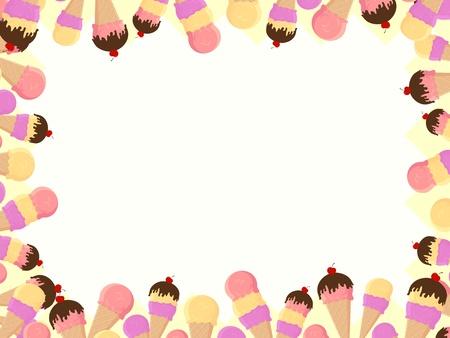 coppa di gelato: telaio con gelato