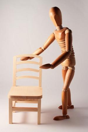 sedia vuota: offerta fittizio in legno sedia vuota