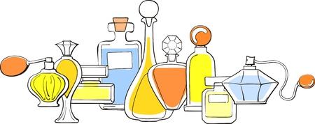 parfumflesjes collectie Vector Illustratie