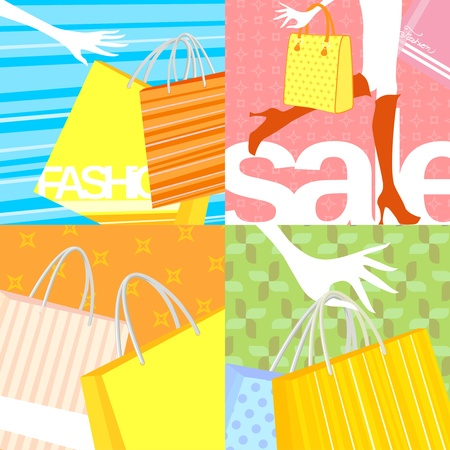gift bags: shopping backgrounds