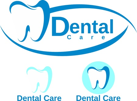 whiten: set of dental logotype