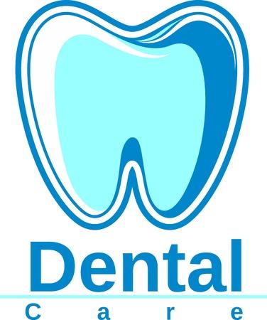 dental care: dental logo design Illustration