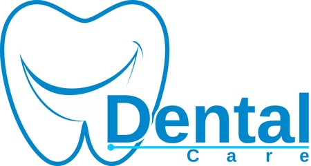 molar with smile dental logo