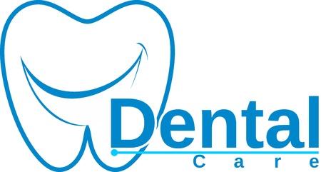 dental smile: molar with smile dental logo