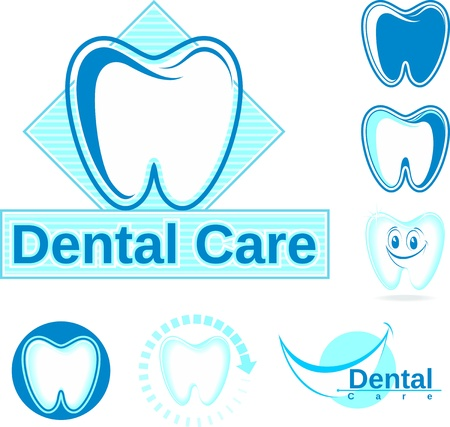 set of dentistry designs Vector