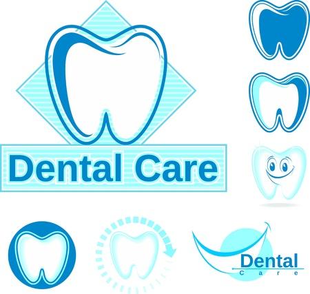 set van tandheelkunde ontwerpen