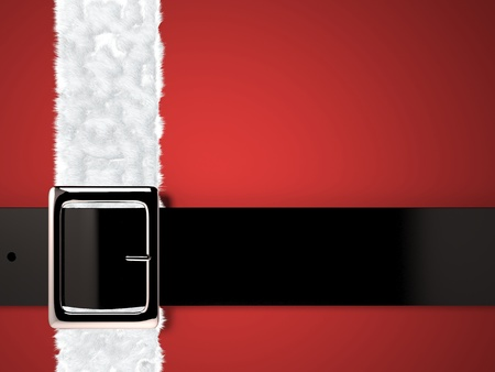 buckle: christmas background with santa claus belt and silver buckle Stock Photo