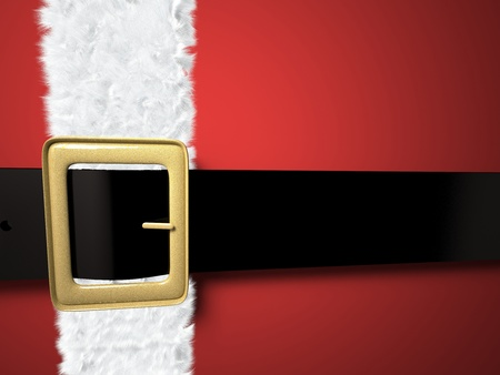 buckle: christmas background with santa claus belt and golden buckle Stock Photo
