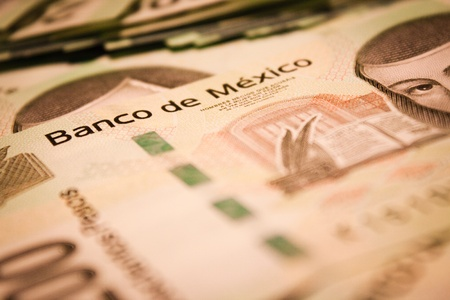 mexican pesos bills background photo