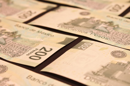 mexican pesos bills background photo