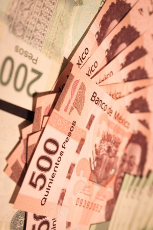 mexican money bills background
