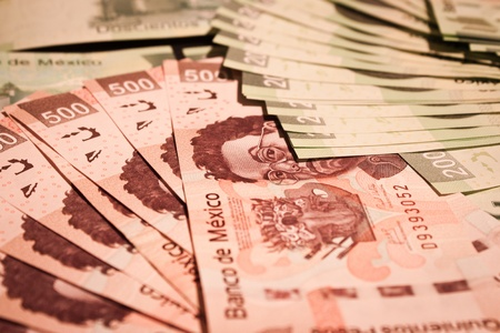 pesos: mexican money bills background