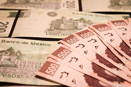 mexican money bills background photo