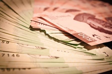 mexican money bills background
