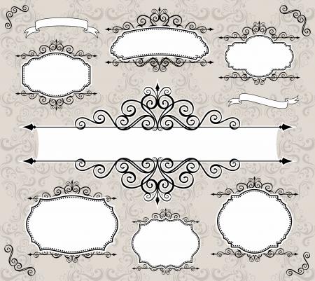 label: set van retro labels of frames en design elementen voor uw evenementen, sloop of uitnodiging ontwerpen