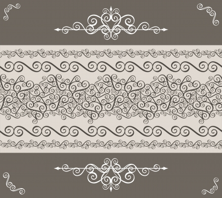 calligraphy ornaments border and design elements for page decoration Vector