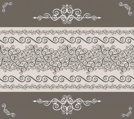 page decoration: kalligrafie ornamenten grens en design elementen voor pagina decoratie