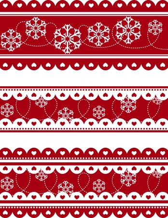set of christmas decorative banners in vector format very easy to edit Vector