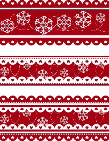 Naadloze: set van kerst decoratieve banners in vector-formaat zeer gemakkelijk te bewerken