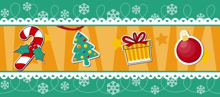christmas seamless border, useful as design elements or banner, vector format avaliable very easy to edit, individual objects Vector