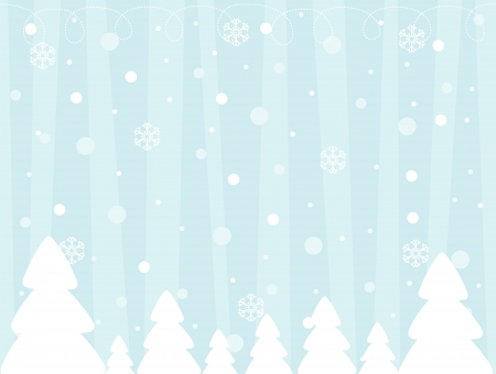 vector image of winter background, usable for christmas designs Stock Illustratie