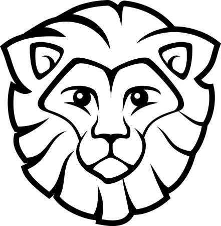 leeuwenkop geïsoleerd op witte achtergrond, in vector-formaat zeer gemakkelijk te bewerken, individuele objecten