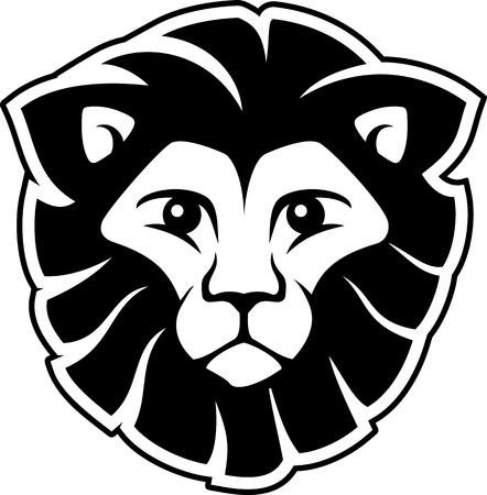 Tête de lion isolé sur fond blanc, dans un format vectoriel très facile à modifier, des objets individuels Banque d'images - 19547926