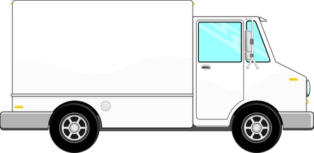 illustration of cargo truck with copy space for your logo or text, isolated on white background