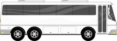 白い背景で隔離の乗客バスのイラスト