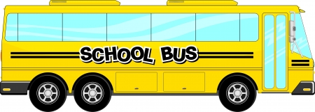 school: yellow school bus isolated on white background
