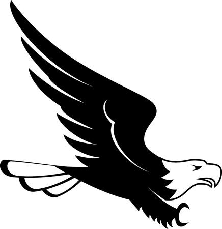 image of flying eagle design isolated on white background