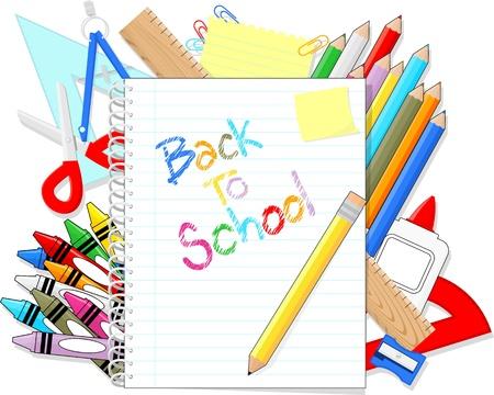 学校教育項目を提供し、個々 のオブジェクトのみ単色、グラデーション非常に簡単に編集、白の背景に分離された学校テキストに背中をメモ帳 写真素材 - 20888356