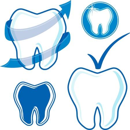 あなたのデザイン、ベクター形式の非常に簡単に編集して、個々 のオブジェクト、グラデーション、純色だけに設定歯科ロゴ アイコン 写真素材 - 21450197