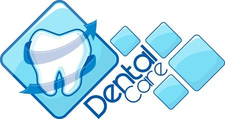 歯科ロゴタイプ デザイン、非常に簡単に編集、個々 のオブジェクト、グラデーション、ベクトル形式の唯一のソリッド色、によって作成されたカス  イラスト・ベクター素材