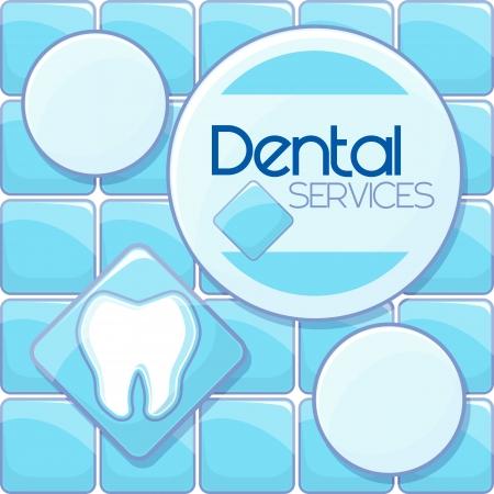 歯科サービス デザイン ブルーの背景とコピー テキストのスペースをベクトル形式の非常に簡単に編集、個々 のオブジェクト、グラデーション、タ