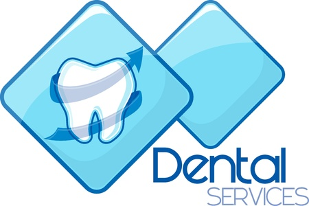 dental heath services design, vector format very easy to edit, individual objects, no gradients, only solid colors, custom typography created by me 版權商用圖片 - 21450225