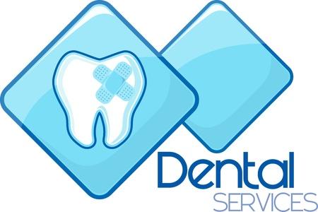私が作成した歯科硬化サービス デザイン、ベクトル形式の非常に簡単に編集、個々 のオブジェクト、グラデーション、純色のみカスタム タイポグ