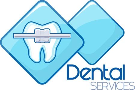 ortodoncia: servicios dentales ortodoncia dise�o, formato vectorial muy f�cil de editar, objetos individuales, sin degradados, colores s�lidos solamente, tipograf�a personalizada creada por m�