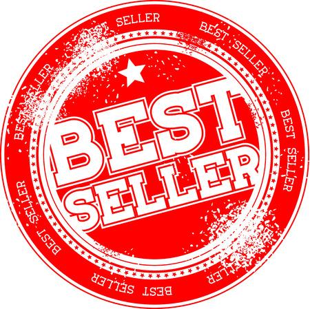 seller: best seller grunge stamp isolated on white background