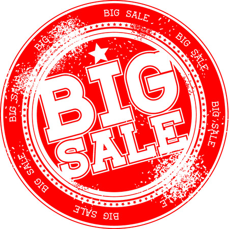 big sale grunge stamp isolated on white background 向量圖像