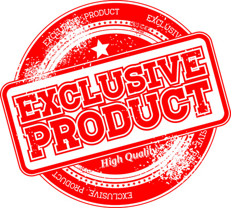 exclusive: exclusive product grunge stamp isolated on white background