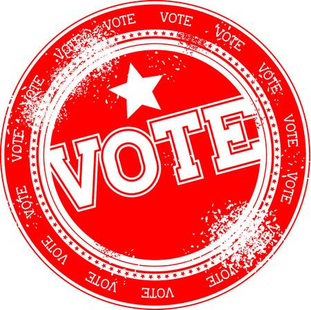 vote: vote grunge stamp isolated on white background