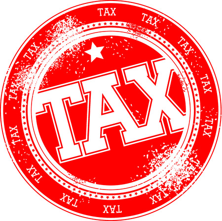 tax grunge stamp isolated on white background