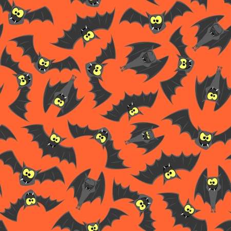 cartoon bats seamless pattern for halloween decoration
